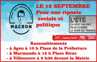 Manifestation du 12 septembre